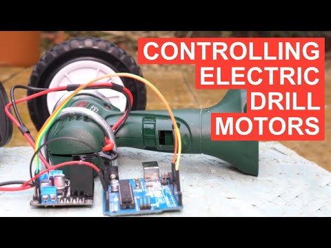 Controlling an electric drill motor using an Arduino