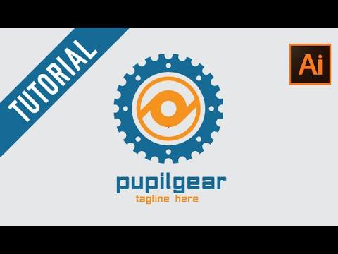 Adobe Illustrator Tutorial : How to make Gear Logo | Pupil Gear