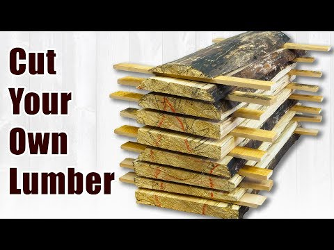 How To Saw Your Own Spalted Lumber From Logs