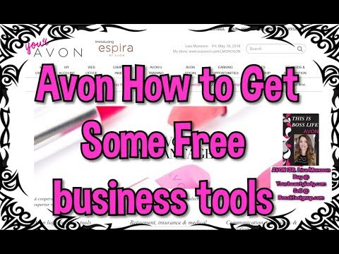 Avon How to Get Free business tools