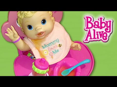 Baby Alive Changing Time Doll Feeding, Foot Rattles, Diaper Mess, and Name Reveal!
