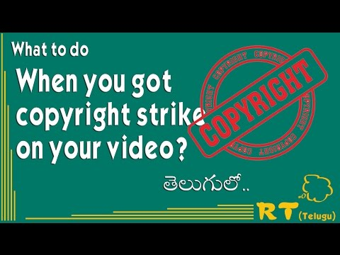 What to do when you got copyright strike on your video? (Telugu)