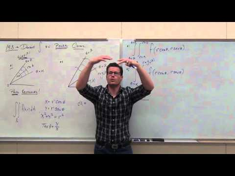 Calculus 3 Lecture 14.3:  Double Integrals over POLAR REGIONS
