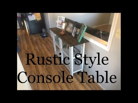 DIY | How to build a Console Table | Made out of 2x4 Studs