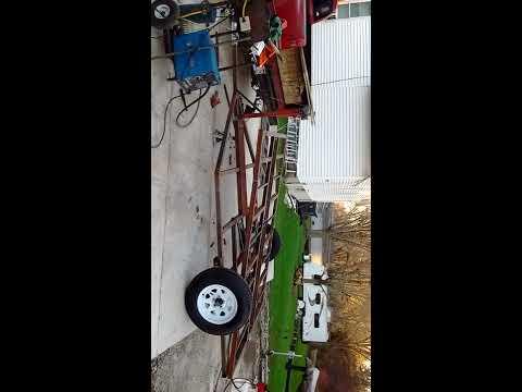Homemade dump trailer using scissorlift