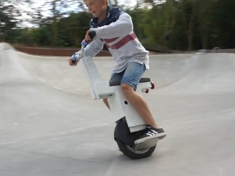 Homemade One Wheel Electric Scooter Skatepark Special