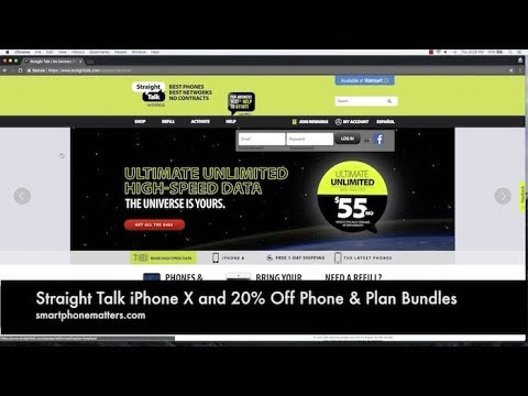Straight Talk iPhone X and 20% Off Phone & Plan Bundles