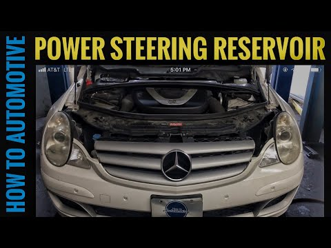 How to Reseal the Power Steering Reservoir on a 2006-2012 Mercedes R350 W164