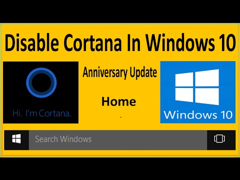 How To Disable Cortana In Windows 10 Anniversary Update Win 10 Home