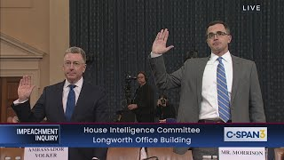 House Impeachment Inquiry Hearing - Volker & Morrison Testimony