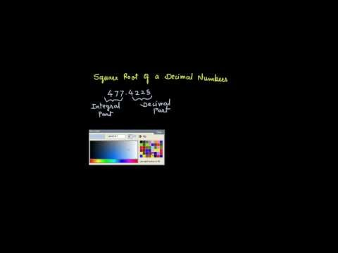 Square root of decimal numbers by long division method