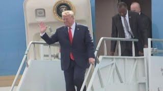 President Trump arrives in Columbia, South Carolina: raw video