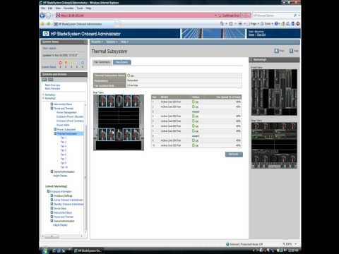 HP BladeSystem Onboard Administrator - 2 minute demo