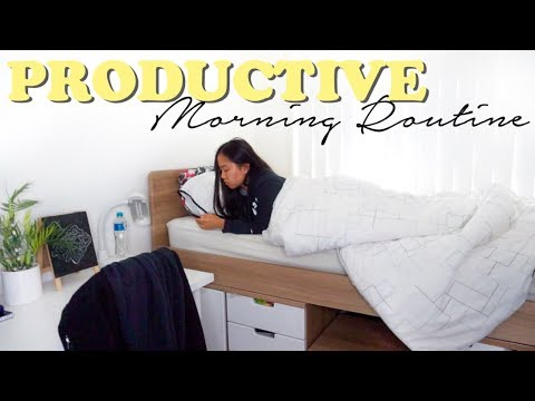 MY MORNING ROUTINE // Productive University Student   THERESATRENDSxJOELLE