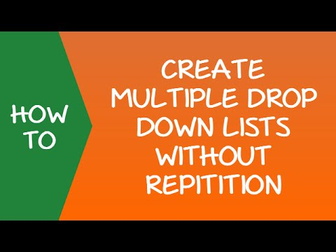 How to Create Multiple Drop Down Lists In Excel Without Repetition