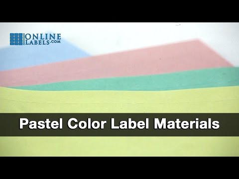 Pastel Color Label Materials - See Features and Uses
