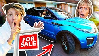 I PUT MY MOMS NEW $50,000 CAR UP FOR SALE!! **PRANK WARS**
