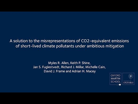 A solution to the misrepresentations of CO2 equivalent emissions of short lived climate pollutants