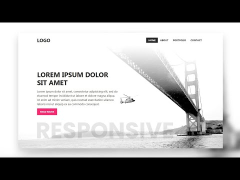 Responsive Banner and Navigation Bar using Bootstrap 4   Responsive Web Design
