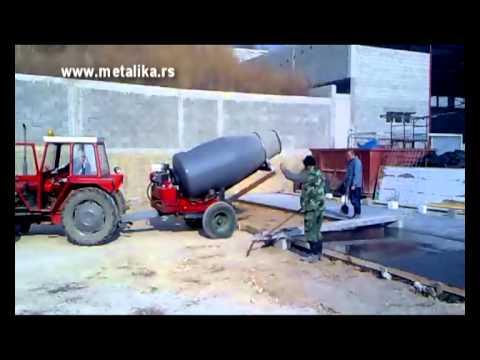 Concrete mixer METALIKA CM-1500 Cubic mixer- cart away.avi