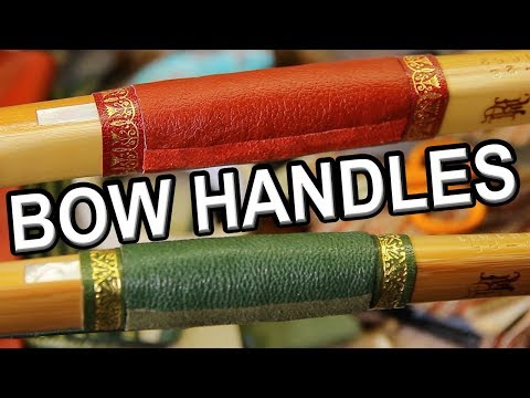 How to make a Longbow, series, applying a handle