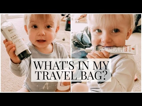 What's in my Travel Bag? (Skincare/Makeup/Hair Products) | Kendra Atkins