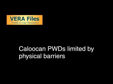 Caloocan PWDs limited by physical barriers