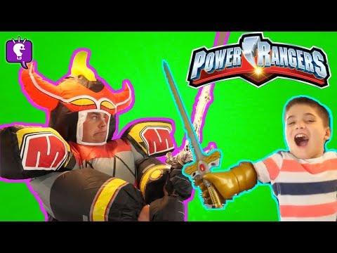POWER RANGERS GIANT MEGA ZORD Adventure! Imaginext Surprise Toys Review with HobbyKidsTV