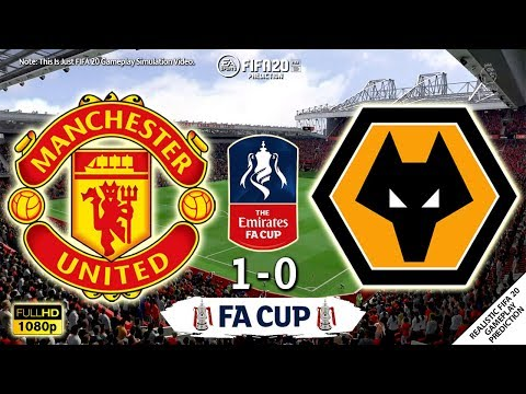 Manchester United vs Wolves 1-0 | Emirates FA Cup 2019/20 | 15/01/2020 | FIFA 20 Simulation