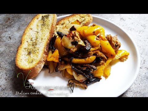 LETS CHAT VLOG VEGAN  YELLOW PEPPER - MUSHROOMS AND CHICKON RECIPE | Connie's RAWsome kitchen