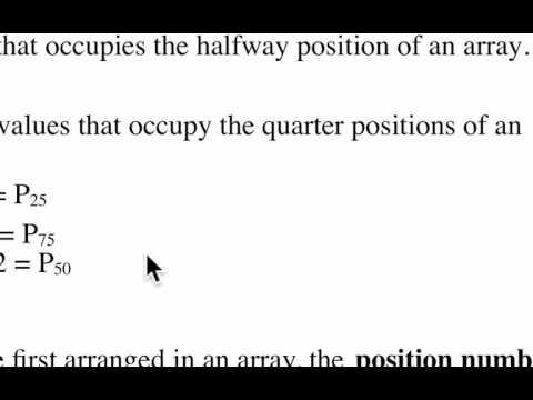 Percentiles and Quartiles 1