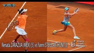 Fanni STOLLAR (HUN) [3] vs. Renata ZARAZUA (MEX) [5]  - Abierto Juvenil Mexicano ITF - QFs