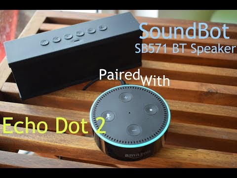 Echo Dot Demo: With Pandora Music Streaming Using SoundBot SB571 Portable Speaker