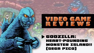 Godzilla: Heart-Pounding Monster Island!! (Sega Pico) - MIB Video Game Reviews Ep 8