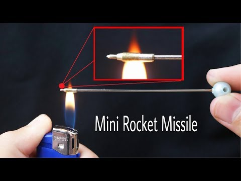 Make Mini Rocket Missile from Matches and Ball Pen at Home