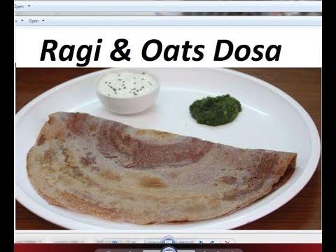 रागी और ओट्स डोसा बिना फरमेंट किये/weightloss recipe / dosa without fermentation by Raks HomeKitchen