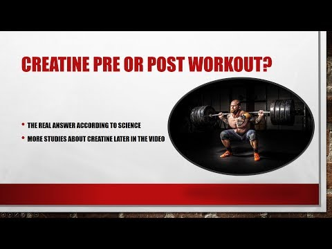 CREATINE | PRE OR POST WORKOUT? THE ANSWER WITH SCIENCE! PLUS MORE