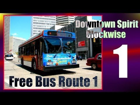 Downtown Winnipeg | 20 | Free Bus Route 1 Downtown Spirit (Clockwise) | May 2016