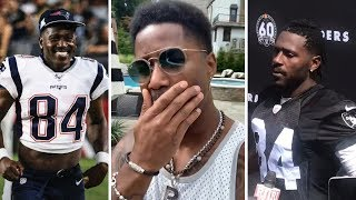 Nate Burleson REACTS To Antonio Brown SIGNING With Patriots After Raiders Release Him!
