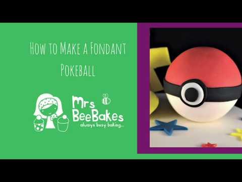 How to make a fondant pokeball cake topper