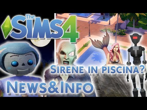 THE SIMS 4 ITA:SIRENE IN PISCINA?MA NON SCHERZIAMO![NEWS&INFO]