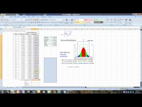 Using Excel to calculate standard deviation and make a histogram