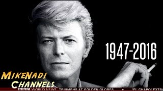 DAVID BOWIE has died - BBC News . Interview . Tribute [P1] (Jan, 2016)