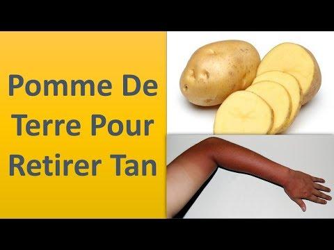 Pomme de terre pour la dépose de Tan