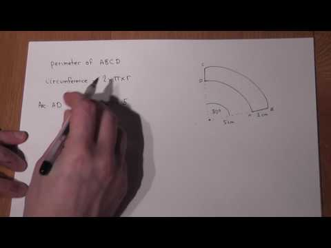 GCSE maths: Sectors, arc length and perimeter