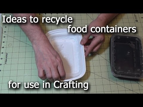 Many craft uses for recycled food containers