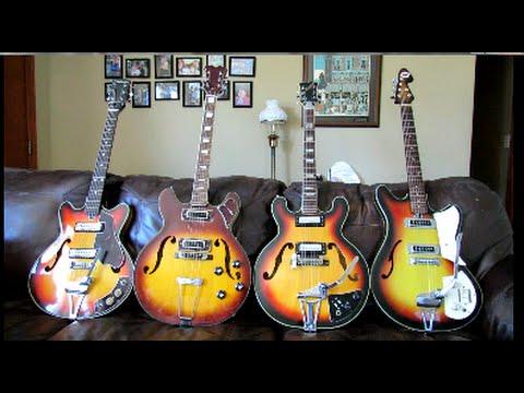 Vintage Japanese Guitar Pickup Shootout (EPISODE 4) Hollowbodies