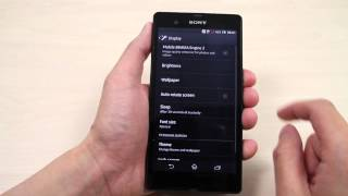 How to change your display and text size on Sony Xperia Z