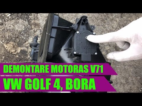 Cum demontezi motoras V71 comanda clapeta clima VW Golf 4, Bora, Skoda Octavia 1, Leon