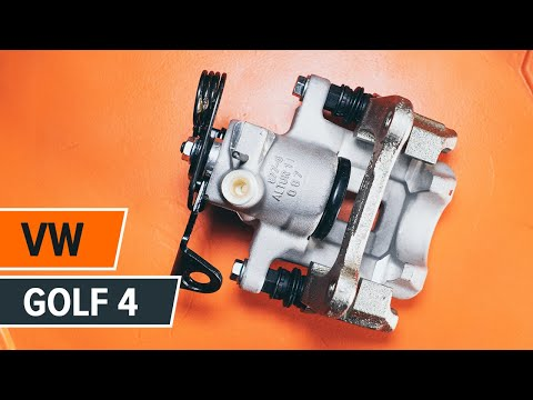 How to replace a rear brake caliper on VW GOLF 4 TUTORIAL | AUTODOC